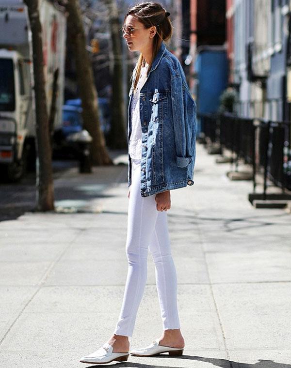 look-danielle-bernstein-com-calca-branca-jaqueta-jeans